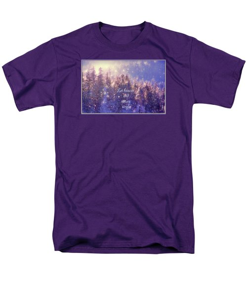 Men's T-Shirt  (Regular Fit) featuring the photograph Heaven And Nature by Kathy Bassett
