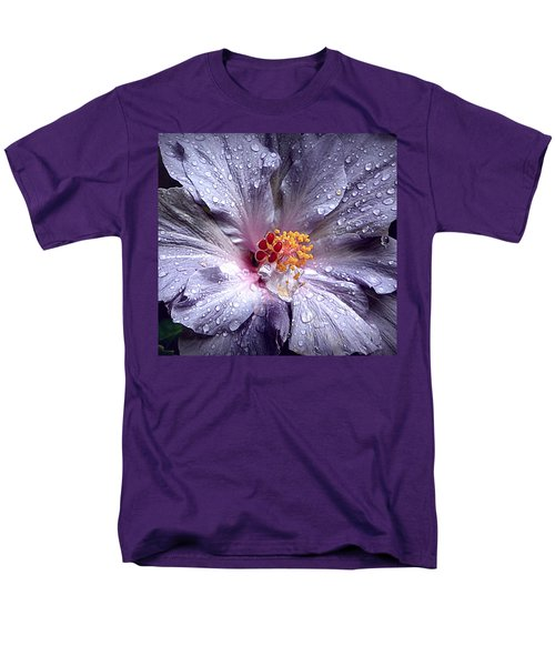 Hibiscus In The Rain Men's T-Shirt  (Regular Fit) by Lori Seaman