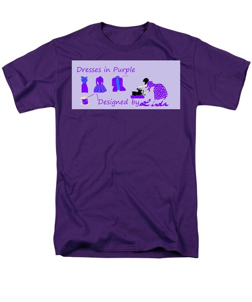 High Style Fashion, Dresses In Purple Men's T-Shirt  (Regular Fit) by Linda Velasquez