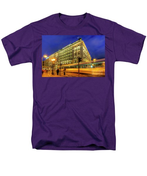Men's T-Shirt  (Regular Fit) featuring the photograph Hotel Grande Bretagne - Athens by Yhun Suarez