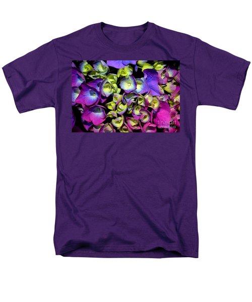 Hydrangea Men's T-Shirt  (Regular Fit) by Vivian Krug Cotton
