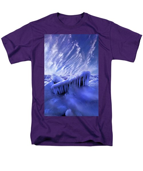 Men's T-Shirt  (Regular Fit) featuring the photograph Iced Blue by Phil Koch