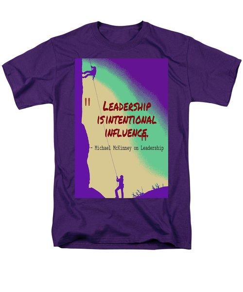 Inspirational Quotes - Motivational , Leadership - 33 Michael Mckinney Men's T-Shirt  (Regular Fit)