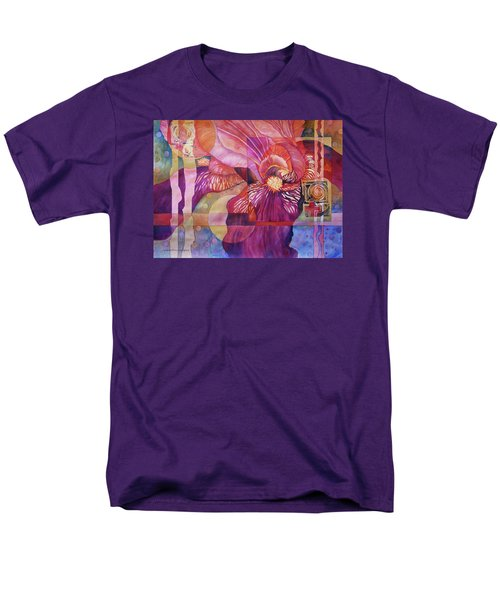 Iris Delight Men's T-Shirt  (Regular Fit) by Lynda Hoffman-Snodgrass