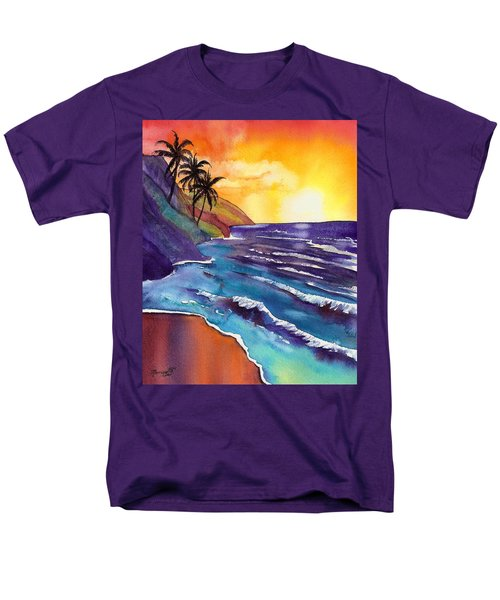 Kauai Na Pali Sunset Men's T-Shirt  (Regular Fit) by Marionette Taboniar