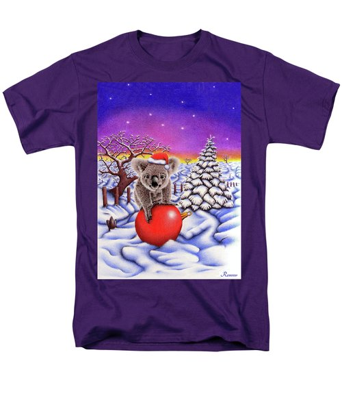 Koala On Christmas Ball Men's T-Shirt  (Regular Fit) by Remrov