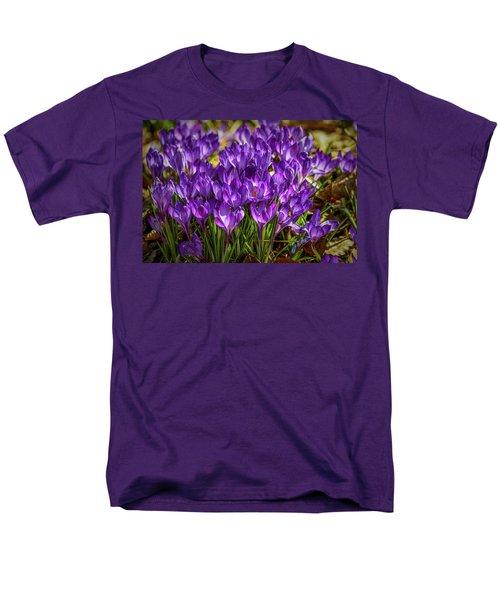 Lilac Crocus #g2 Men's T-Shirt  (Regular Fit) by Leif Sohlman