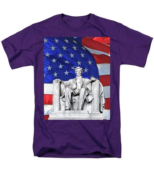 Men's T-Shirt  (Regular Fit) featuring the photograph Lincoln America by Christopher McKenzie