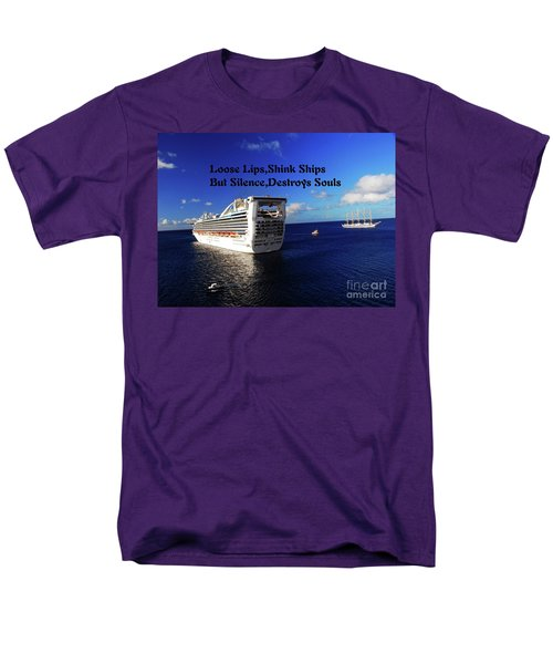 Men's T-Shirt  (Regular Fit) featuring the photograph Loose Lips by Gary Wonning