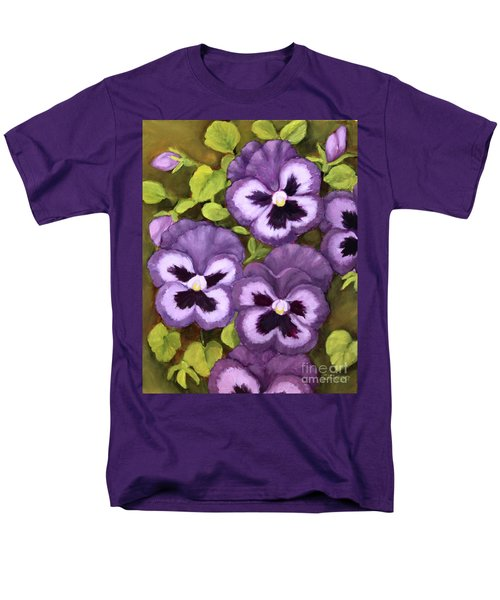 Lovely Purple Pansy Faces Men's T-Shirt  (Regular Fit) by Inese Poga