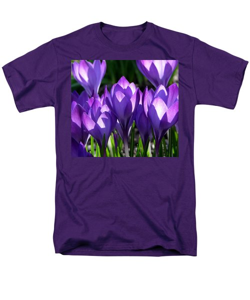 Men's T-Shirt  (Regular Fit) featuring the photograph Luminous Floral Geometry by Byron Varvarigos