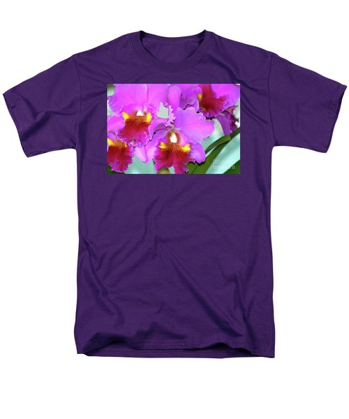 Many Purple Orchids Men's T-Shirt  (Regular Fit) by Lehua Pekelo-Stearns