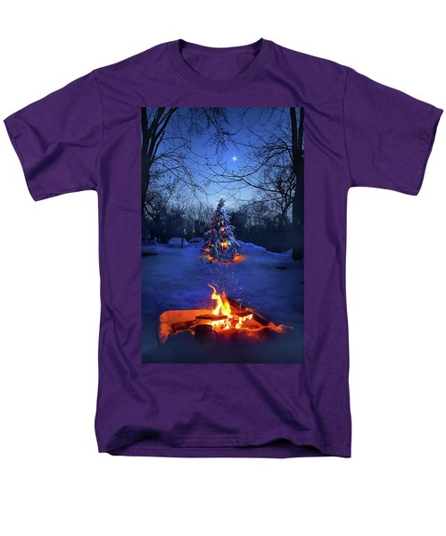 Men's T-Shirt  (Regular Fit) featuring the photograph Merry Christmas by Phil Koch