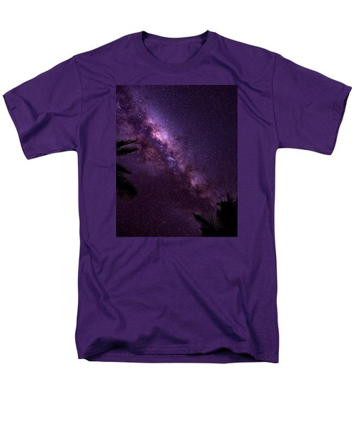 Milky Way Over Mission Beach Vertical Men's T-Shirt  (Regular Fit) by Avian Resources