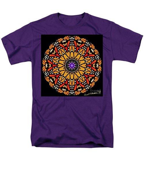 Monarch Butterfly Wings Kaleidoscope Men's T-Shirt  (Regular Fit) by Carol F Austin