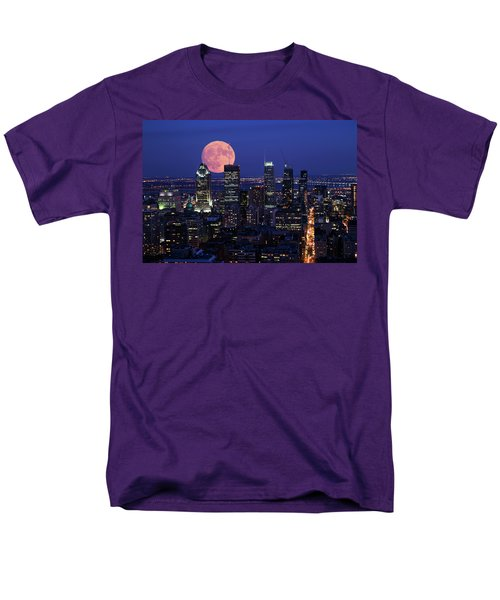 Men's T-Shirt  (Regular Fit) featuring the photograph Montreal Supermoon by Mircea Costina Photography