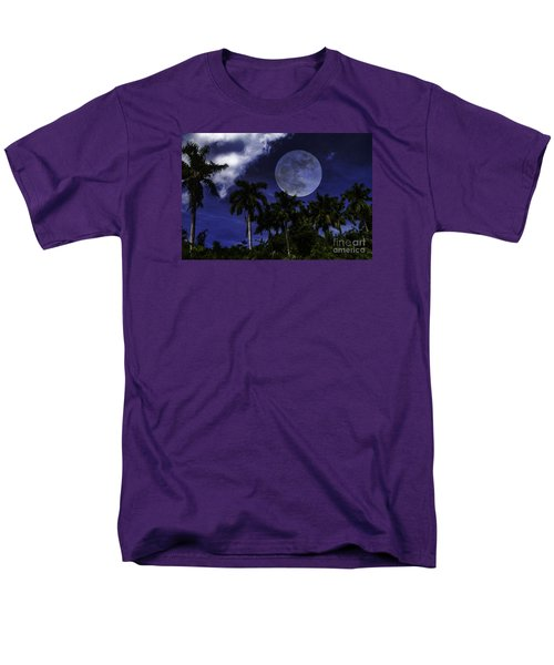 Men's T-Shirt  (Regular Fit) featuring the photograph Moon Over Belize by Ken Frischkorn