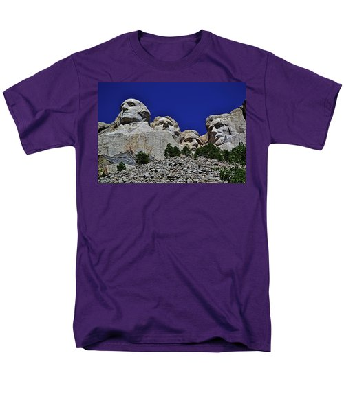 Men's T-Shirt  (Regular Fit) featuring the photograph Mount Rushmore 007 by George Bostian