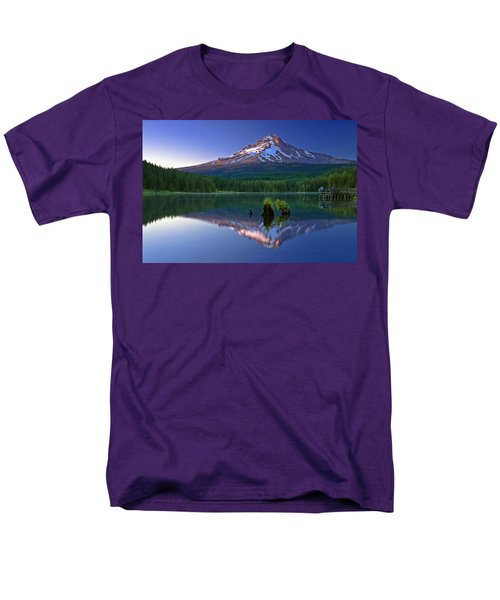 Mt. Hood Reflection At Sunset Men's T-Shirt  (Regular Fit) by William Lee