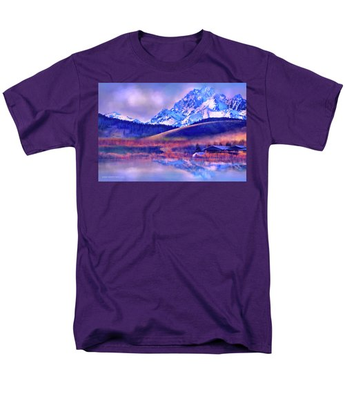 Mt. Stuart Men's T-Shirt  (Regular Fit) by Kari Nanstad