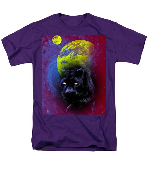 Nebula's Panther Men's T-Shirt  (Regular Fit) by Swank Photography