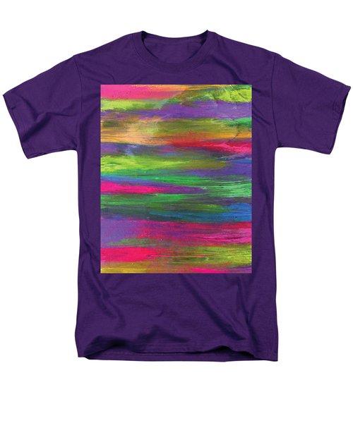 Neon Rainbow Men's T-Shirt  (Regular Fit)