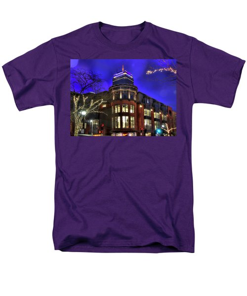 Men's T-Shirt  (Regular Fit) featuring the photograph Newbury Street And The Prudential - Back Bay - Boston by Joann Vitali