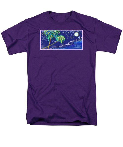 Men's T-Shirt  (Regular Fit) featuring the painting Noche Tropical by The Art of Alice Terrill