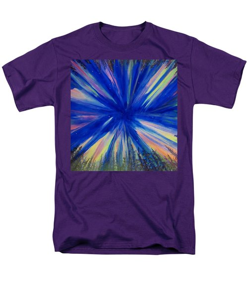 Men's T-Shirt  (Regular Fit) featuring the painting Northern Lights 3 by Cathy Long