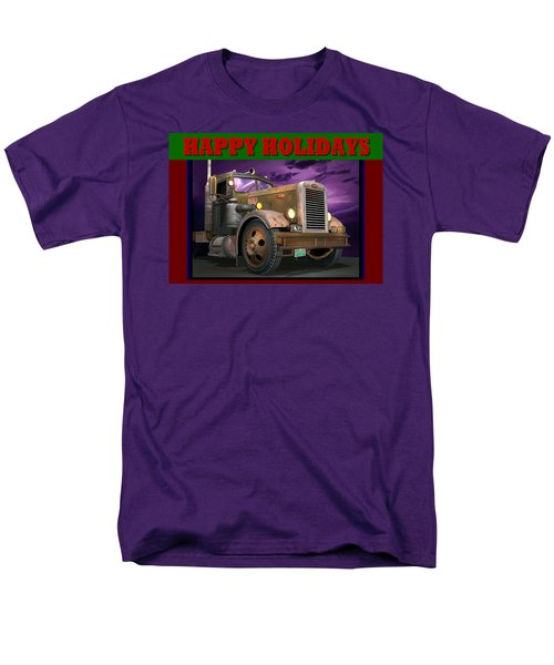 Ol' Pete Happy Holidays Men's T-Shirt  (Regular Fit) by Stuart Swartz