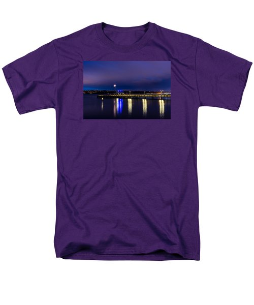 Men's T-Shirt  (Regular Fit) featuring the photograph Old Town Pier During The Blue Hour by Rob Green
