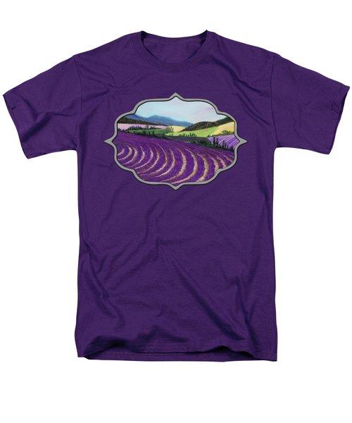 On Lavender Trail Men's T-Shirt  (Regular Fit)