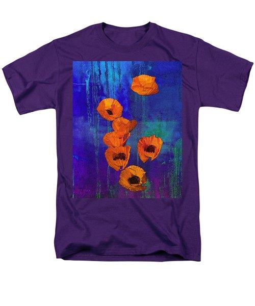 Orange Poppies Men's T-Shirt  (Regular Fit) by I'ina Van Lawick