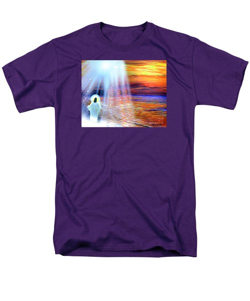 Men's T-Shirt  (Regular Fit) featuring the painting Peace Be With You by Patricia L Davidson