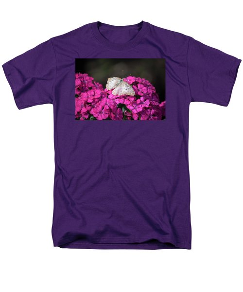Peacock Butterfly On Fuchsia Phlox Men's T-Shirt  (Regular Fit) by Suzanne Gaff