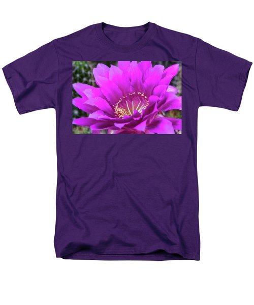 Men's T-Shirt  (Regular Fit) featuring the photograph Pink Echinopsis Bloom  by Saija Lehtonen