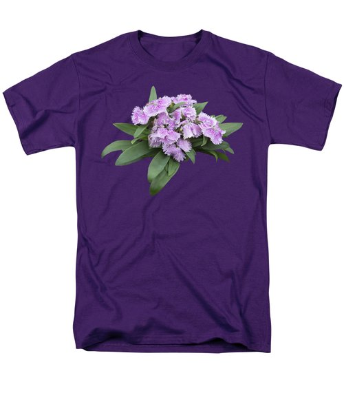 Pink Floral Cutout Men's T-Shirt  (Regular Fit) by Linda Phelps