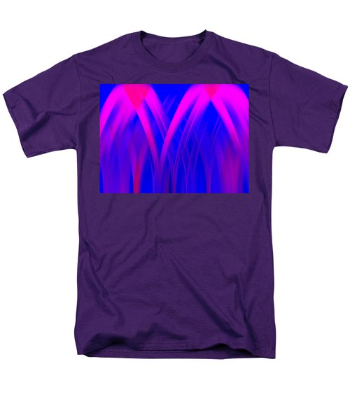 Men's T-Shirt  (Regular Fit) featuring the digital art Pink Lacing by Carolyn Marshall