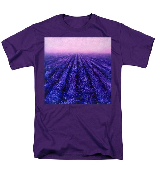 Pink Skies - Lavender Fields Men's T-Shirt  (Regular Fit) by Karen Whitworth