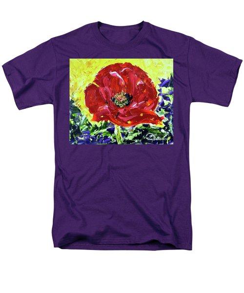 Poppy Amongst Lavender Men's T-Shirt  (Regular Fit) by Lynda Cookson