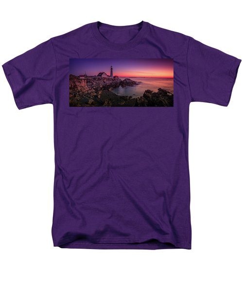 Men's T-Shirt  (Regular Fit) featuring the photograph Portland Head Lighthouse Sunrise  by Emmanuel Panagiotakis