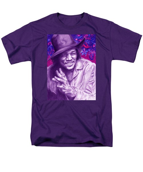 Psychedelic Jimi Men's T-Shirt  (Regular Fit)