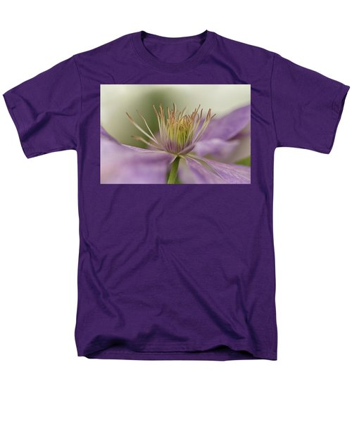 Purple Clematis Macro Men's T-Shirt  (Regular Fit) by Jacqi Elmslie