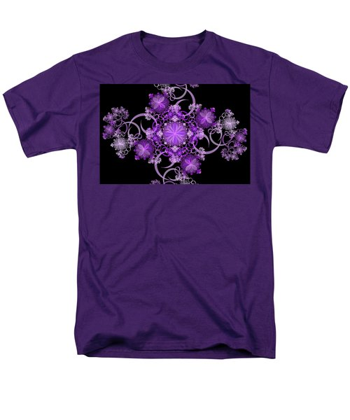 Men's T-Shirt  (Regular Fit) featuring the photograph Purple Floral Celebration by Sandy Keeton