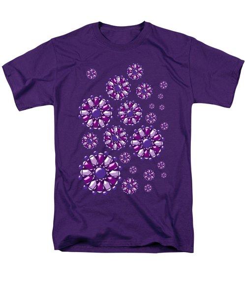 Purple Gems Men's T-Shirt  (Regular Fit) by Anastasiya Malakhova