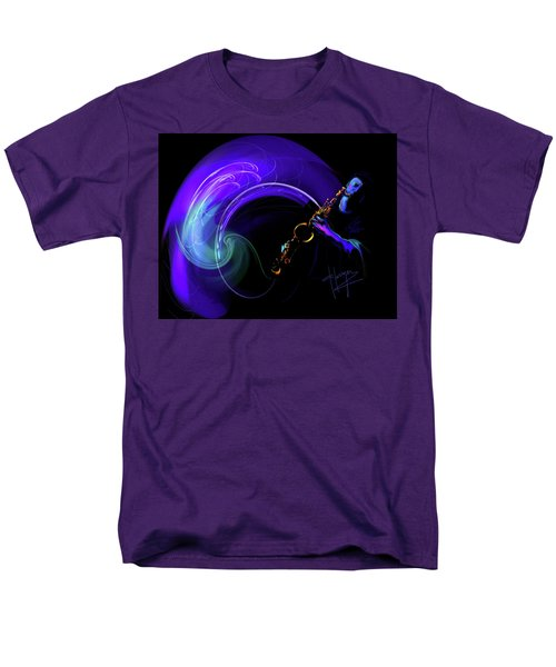 Men's T-Shirt  (Regular Fit) featuring the painting Purple Moon by DC Langer