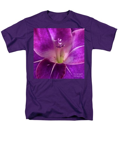 Men's T-Shirt  (Regular Fit) featuring the photograph Purple Orchid Close Up by Kim Nelson