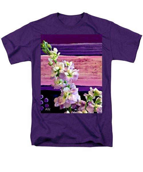 Men's T-Shirt  (Regular Fit) featuring the photograph Purple Purple Everywhere by Marsha Heiken