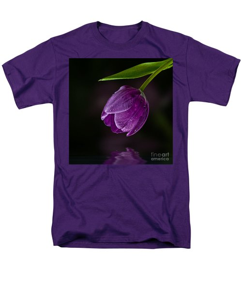 Purple Tulip Men's T-Shirt  (Regular Fit) by Shirley Mangini
