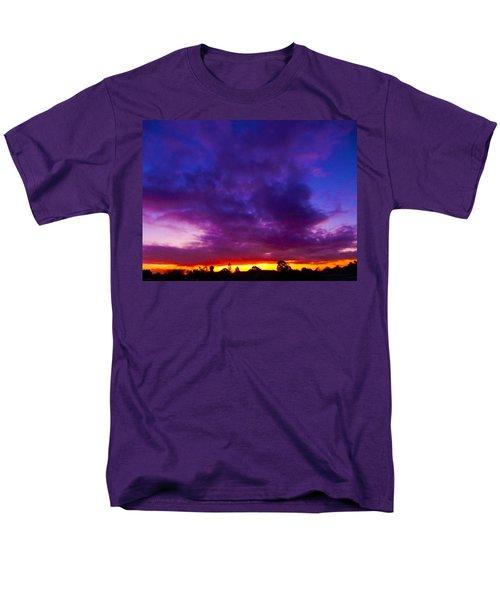 Rainbow Sunset Men's T-Shirt  (Regular Fit) by Mark Blauhoefer